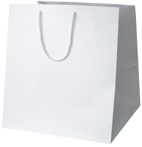 高級 手提げ袋 383888 マット・ホワイト W-400 400×390×430 50枚