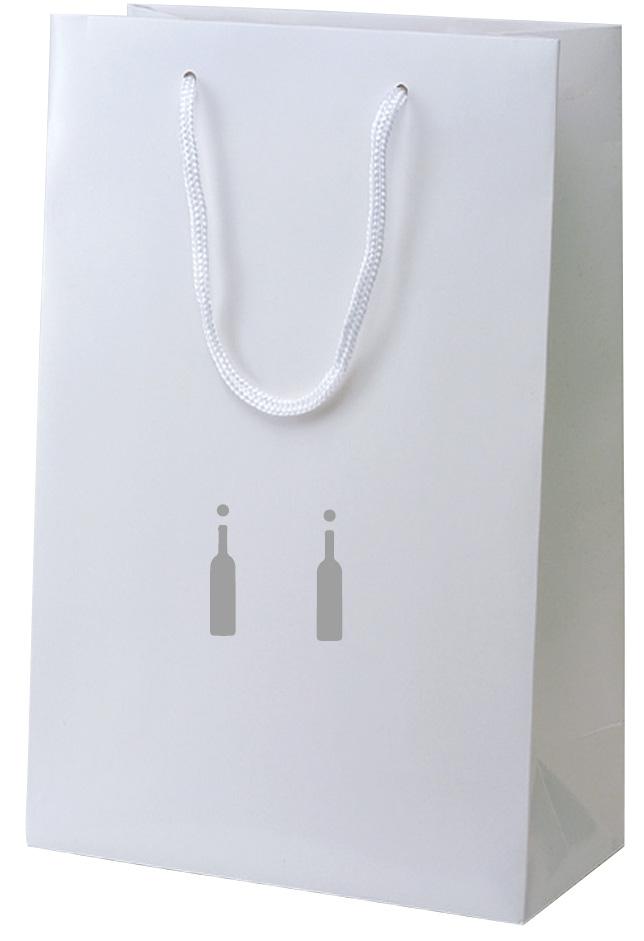 包装袋 ボトル袋 383892 楽楽 2本用 シルバーボトル(固定パーツ付2本用) 260×110×380 100枚