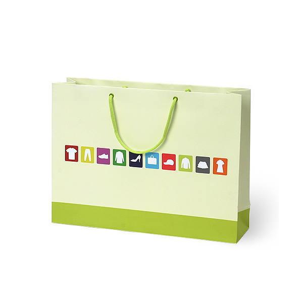 紙袋 デザインアパレル スノー紙 DSG1-4231 420×110×310mm 50枚