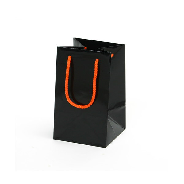 紙袋 無地ブラック アート紙 MBK1220 120×120×200mm 200枚
