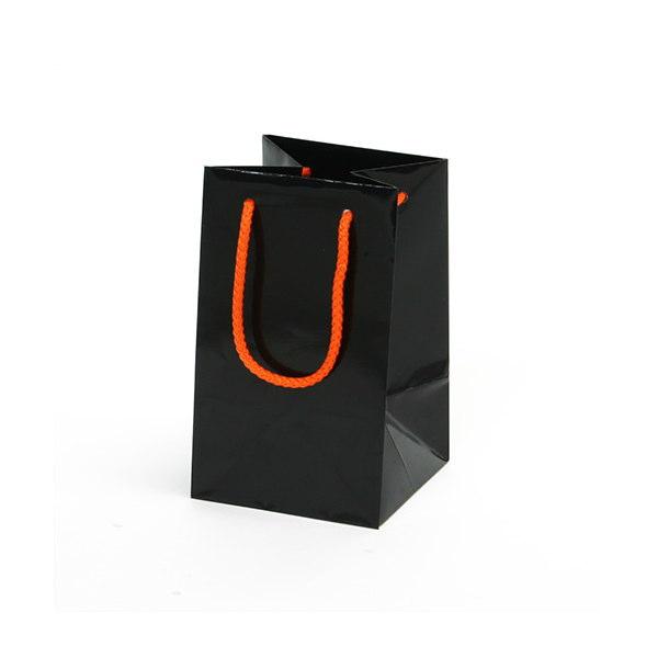 紙袋 無地ブラック アート紙 MBK1220 120×120×200mm 100枚