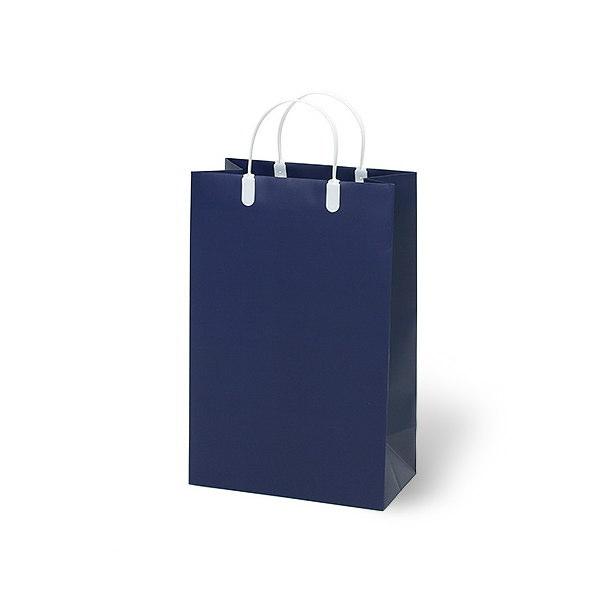 紙袋 無地ネイビー スノー紙 MNV2437 240×130×370mm 80枚