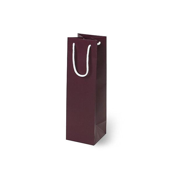 紙袋 無地レッドワイン スノー紙 MWN1137 110×110×370mm 200枚