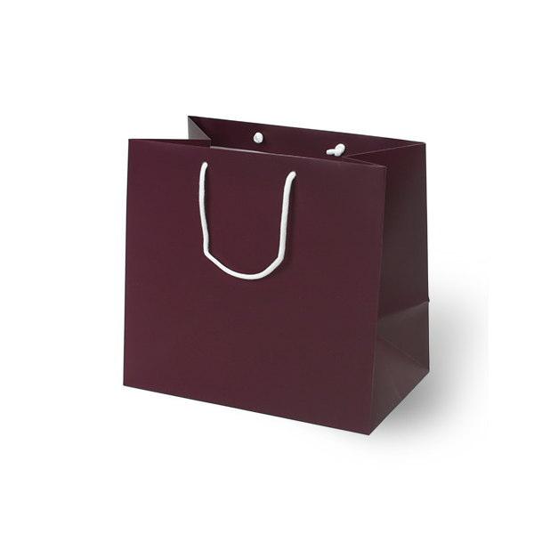 紙袋 無地レッドワイン スノー紙 MWN3230 320×200×300mm 100枚