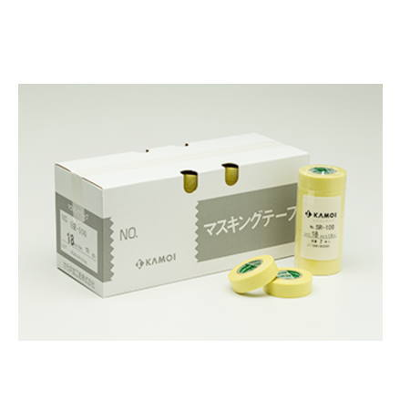 カモイ マスキングテープ SR-100 12mm巾×18m長 100巻