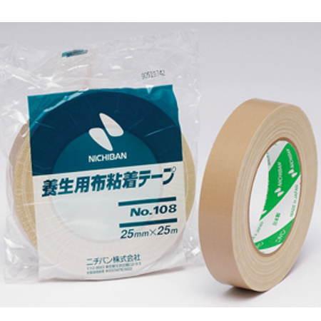 ニチバン 養生用布粘着テープ NO.108 黄土 25mm×25m 60巻