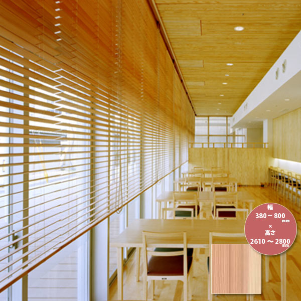 東京ブラインド 木製ブラインド こかげ ベネチアウッド50 智頭杉/無塗装(標準仕様) 高さ2610~2800mm 幅380~800mm