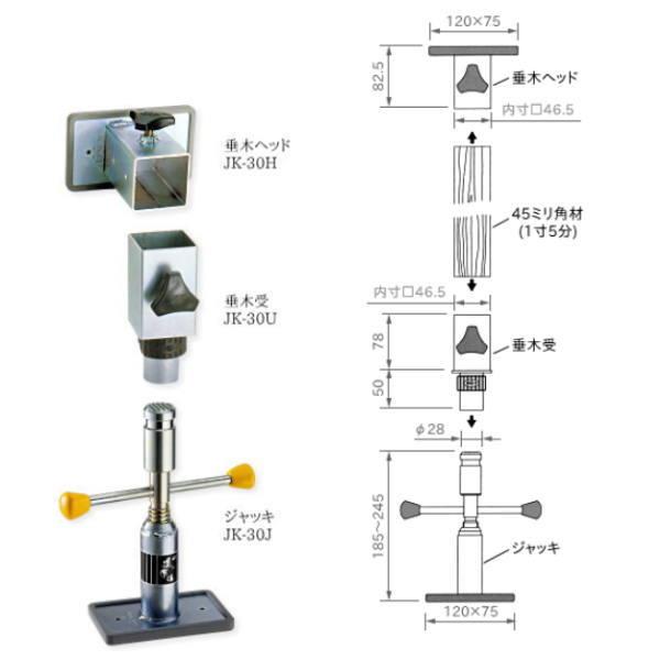 木造の造作用ミニジャッキ 123 買い物 ワンツースリー 造作くん JK-30 日時指定