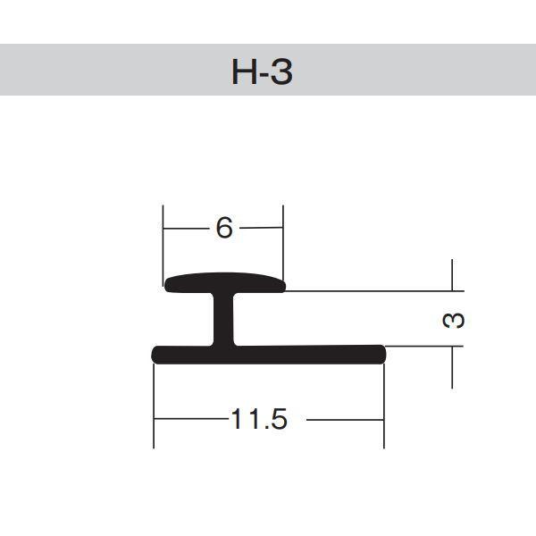 ダイアロン ジョイナー H-3 白 塩化ビニール 長さ1820mm 300本