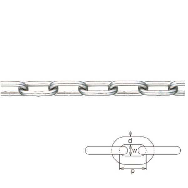 水本機械 一般用レギュラーチェーン 線径25mm 25-A 1m長価格