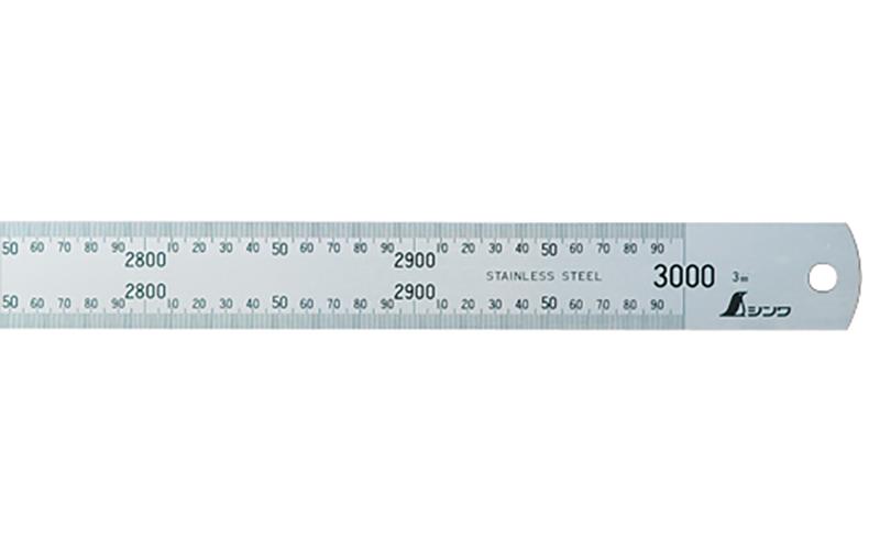 シンワ 直尺 シルバー 3m 13072