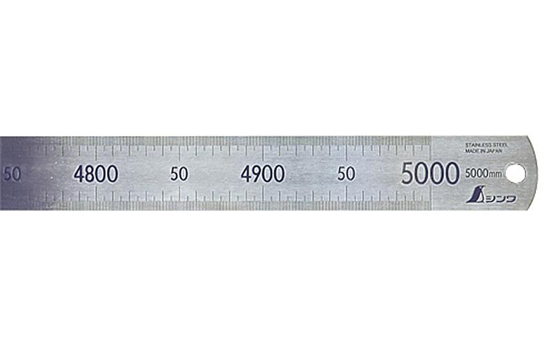 シンワ 直尺 ステン 5m 14095