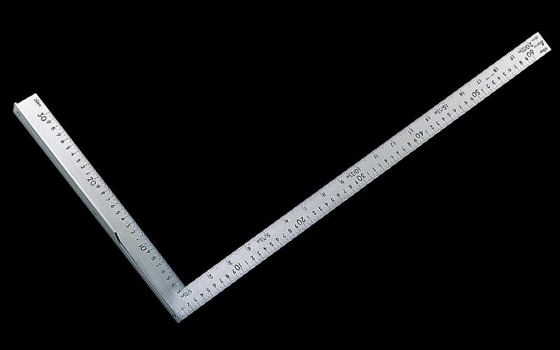 シンワ L型万能定規 60cm 併用目盛 77885