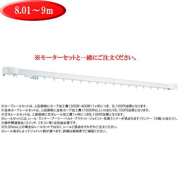 トーソー 電動カーテンレール プログレス レールセット 8.01~9m