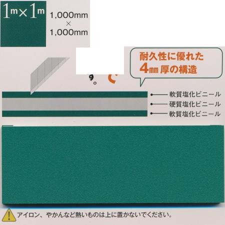 ワーロン カッティングマット パワーマット 1m×1m 厚さ4mm