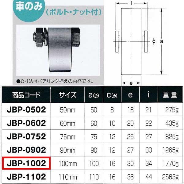 ヨコヅナ ステンレス重量戸車 平型 車のみJBP-1002 1個
