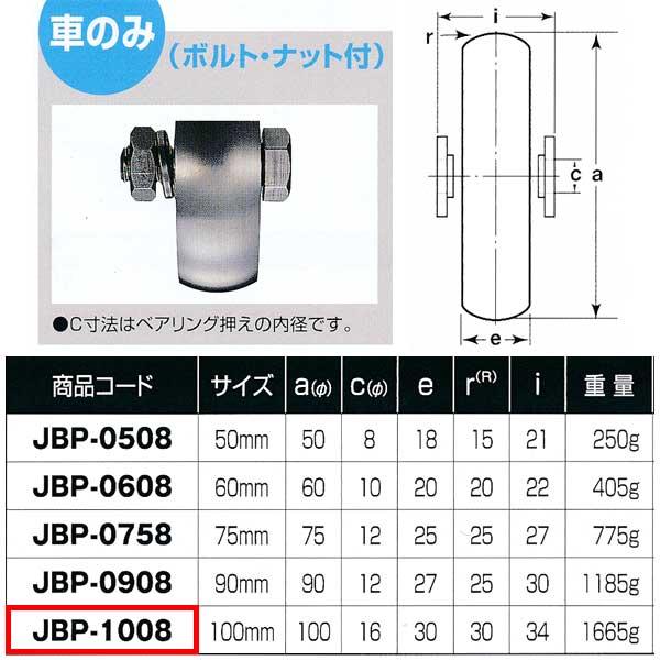 ヨコヅナ ステンレス重量戸車 山R車型 車のみJBP-1008 1個