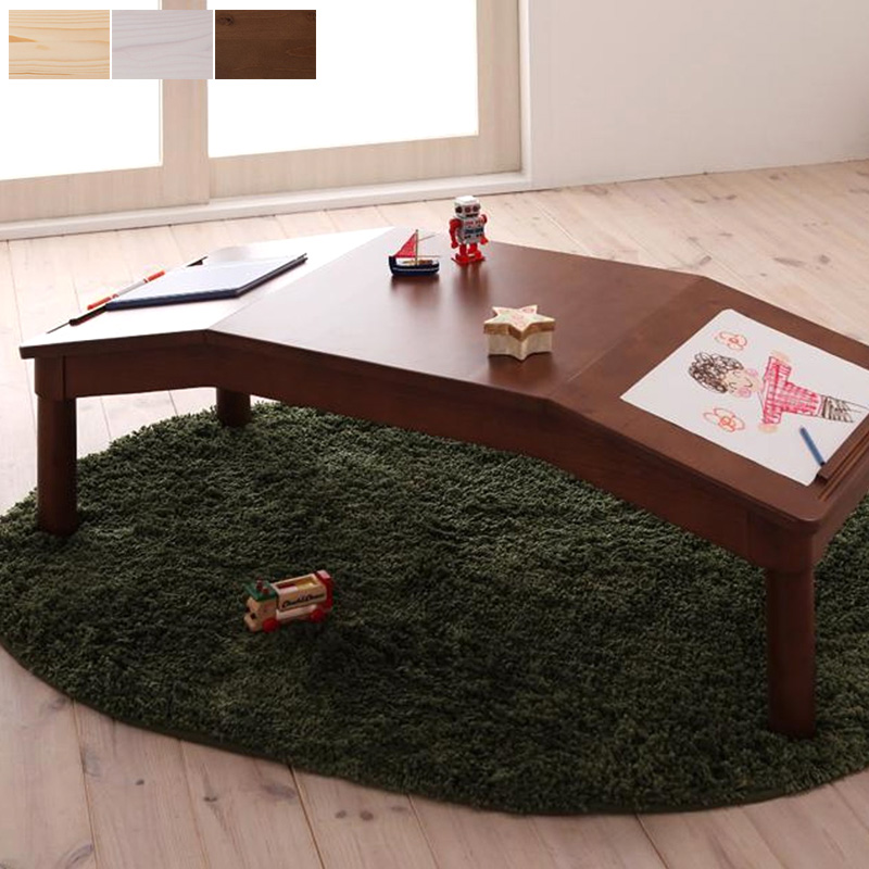 【代引不可】キッズテーブル テーブル ローテーブル 木製 天然木 北欧 子供 キッズ ナチュラル/ホワイト/ブラウン Primaria プリマリア works