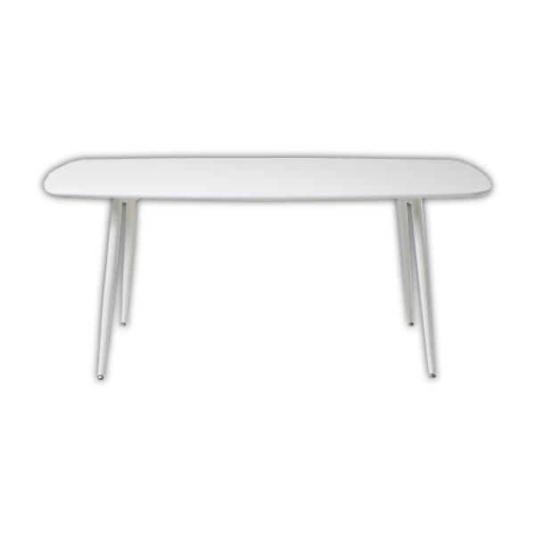 あずま工芸 TOCOM interior GLOSS(グロス) 食卓机 幅160cm シンプル モダン ホワイト 白 ダイニングテーブル160 TDT-5081 送料無料