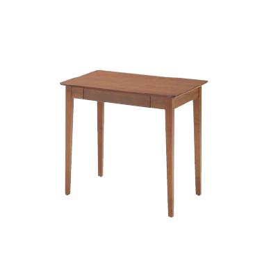 あずま工芸 TOCOM interior Dione(ディオーネ) 書斎机 平机 幅70cm 木製 引き出し付き シンプル 北欧風 ナチュラル ウッドデスク70 ED-2870 ダークブラウン 送料無料