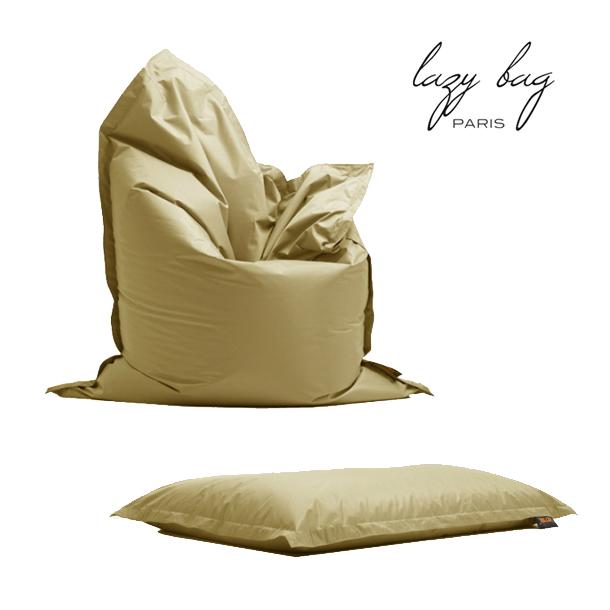 ファブリックソファ 1Pソファ Lazy Bag Paris(レイジーバッグパリス) lazy bag 75-BB ビーズクッション ルーズソファー ベージュ 送料無料