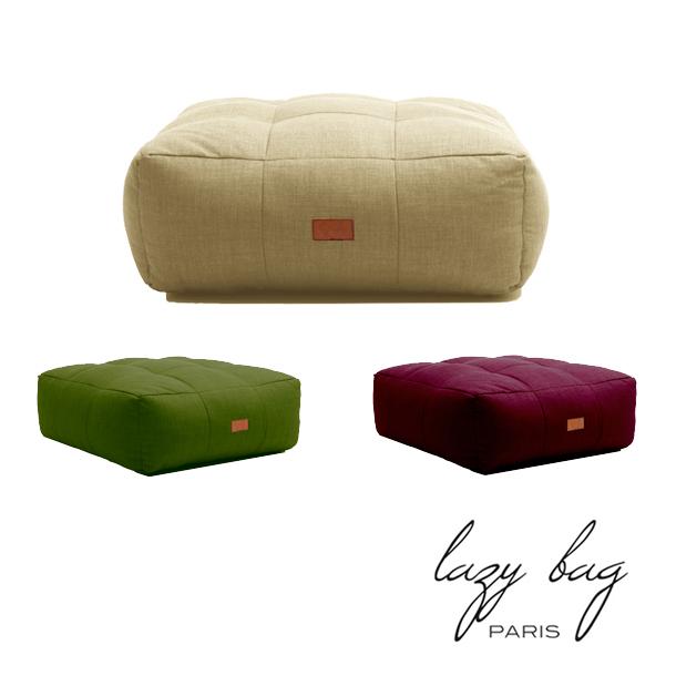 ファブリックスツール Lazy Bag Paris(レイジーバッグパリス) lazy bag 334-CF ウレタン スクエア スツール ベージュ  ライム  カーマイン オットマン部門ランキング4位獲得 一部地域 送料無料 whlny