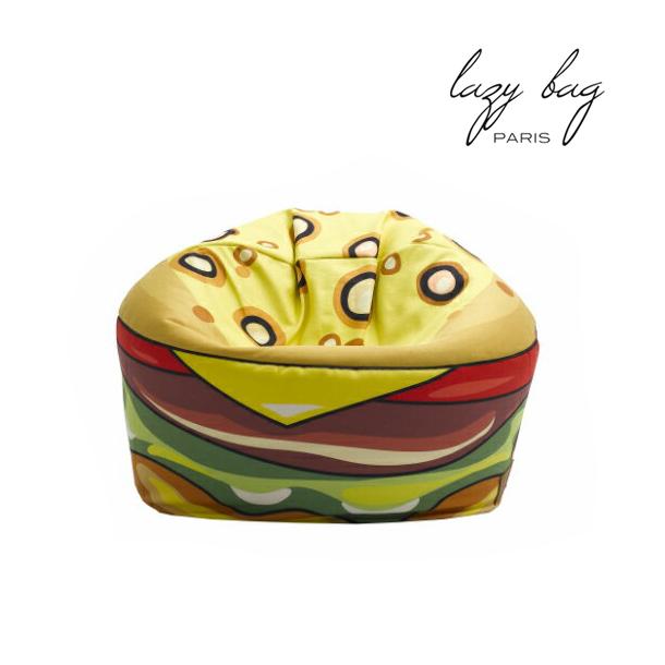 【スーパーセール 9/4 20:00~9/11 1:59】 ファブリックソファ 1Pソファ Lazy Bag Paris(レイジーバッグパリス) lazy bag 199-BB 1人掛けビーズクッション ハンバーガー 送料無料