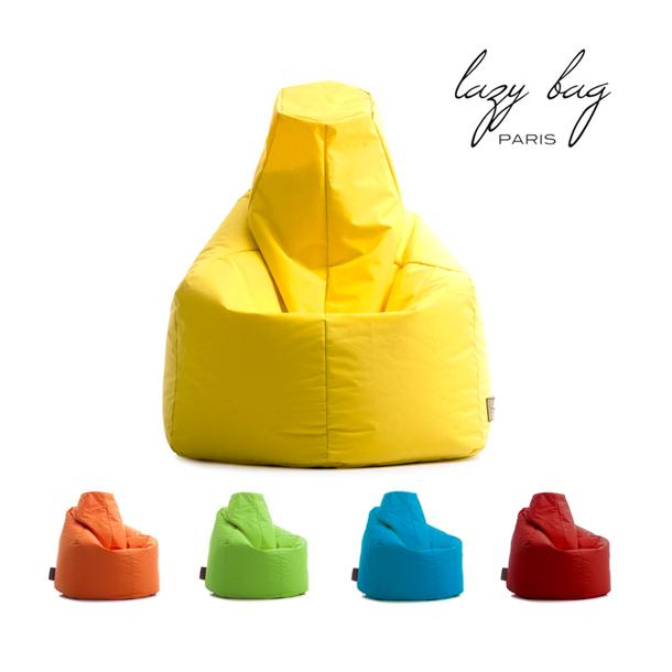 【スーパーセール 9/4 20:00~9/11 1:59】 ファブリックソファ 1Pソファ Lazy Bag Paris(レイジーバッグパリス) lazy bag 386-BB ビーズクッション グリーン レッド オレンジ ブルー イエロー 送料無料