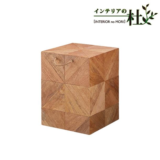 小物 雑貨 おしゃれ かわいい ボックス 飾り 台 アート 寝室 家具 マンゴーウッド 茶 CK-01 HOMEDAY 桜屋工業 送料無料
