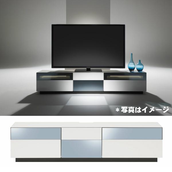 【MKマエダ】【MINIMAL(ミニマル)】MIN-180 WT180cm幅テレビボードウレタン塗装・鏡面仕上げ/ハーフミラーガラスのTVボード【一部地域送料無料】