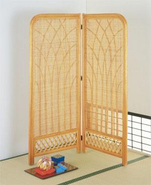 Romantic Rattan 籐(ラタン)家具 スクリーンミドルタイプ(B315) 送料無料
