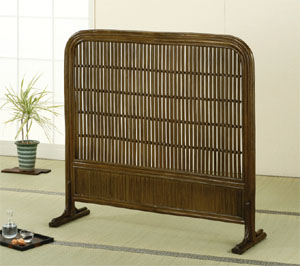 【スーパーセール 9/4 20:00~9/11 1:59】 Romantic Rattan 籐(ラタン)家具 衝立(B501B) 送料無料