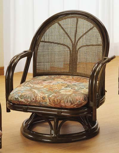 【Romantic Rattan】【籐(ラタン)家具】籐リビング 回転座椅子 ミドルタイプ(S302B)【送料無料】【smtb-TK】