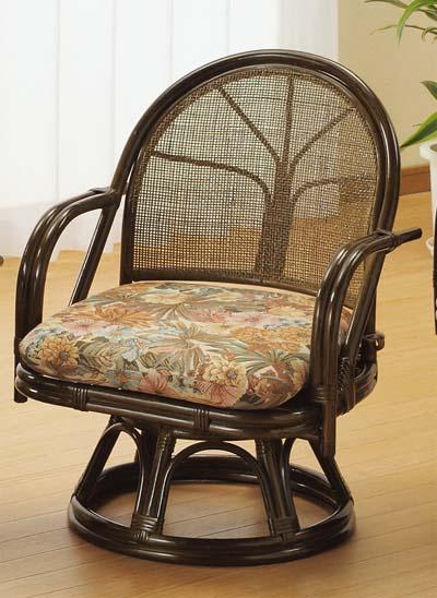 【Romantic Rattan】【籐(ラタン)家具】籐リビング 回転座椅子 ミドルハイタイプ(S303B)【送料無料】【smtb-TK】