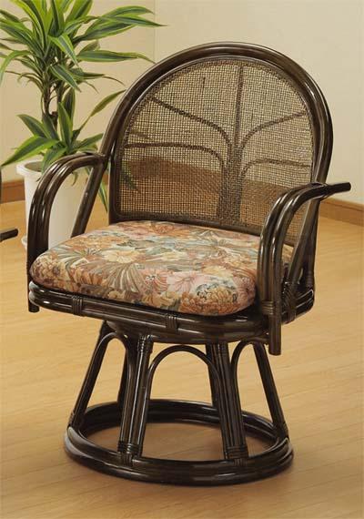 【Romantic Rattan】【籐(ラタン)家具】籐リビング 回転座椅子 ハイタイプ(S304B)【送料無料】【smtb-TK】