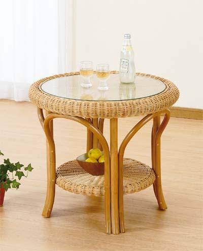 【スーパーセール 9/4 20:00~9/11 1:59】 Romantic Rattan 籐(ラタン)家具 籐リビング テーブル(T127) 送料無料
