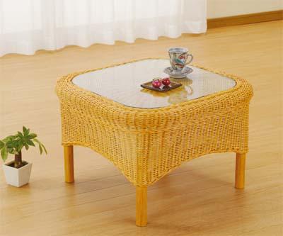【スーパーセール 9/4 20:00~9/11 1:59】 Romantic Rattan 籐(ラタン)家具 籐リビング テーブル(T129) 送料無料
