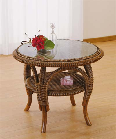 Romantic Rattan 籐(ラタン)家具 籐リビング テーブル (T707)送料無料