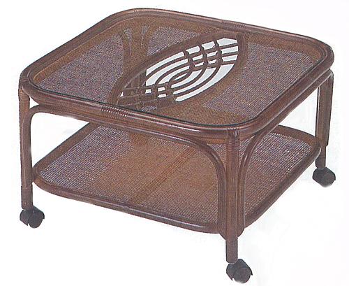 Romantic Rattan 籐(ラタン)家具 籐テーブル角型 T44B 送料無料