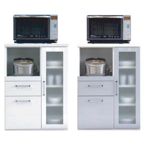 創愛 レンジボード Style スタイルA W ホワイト S シルバー レンジ台 キッチン 台所 収納 家具 送料無料
