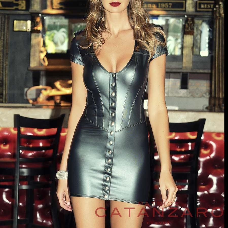 AKA WETLOOK カーキ ドレス 【トーム15.2】 フランスのフェティッシュ系ファッション「パトリス・カタンザロ」