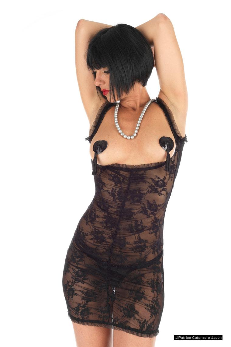 ISABELA ドレス 【LACE CHERIE】 フランスのフェティッシュ系ファッション「パトリス・カタンザロ」