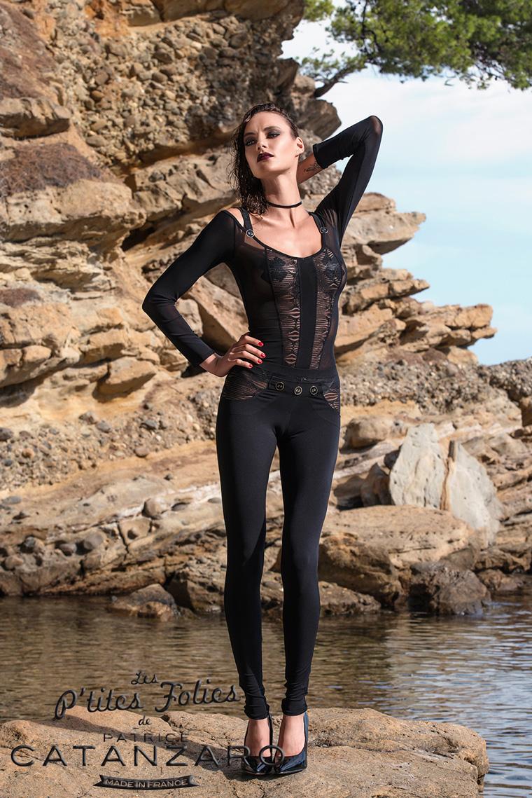 ARETHA レギンス 【プティットフォリ vol.6.2】 フランスのフェティッシュ系ファッション「パトリス・カタンザロ」