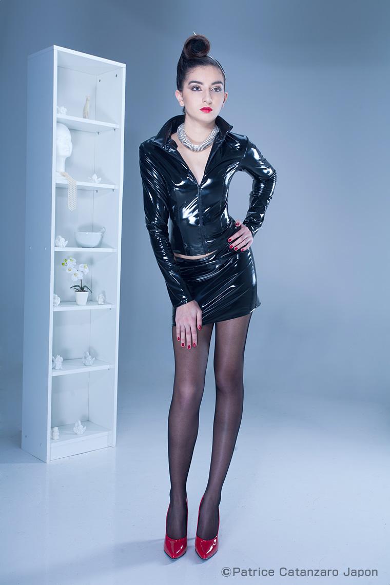 DEMON スカート エナメル 【TOME11】 フランスのフェティッシュ系ファッション「パトリス・カタンザロ」DEMON スカート エナメル 【 TOME11】