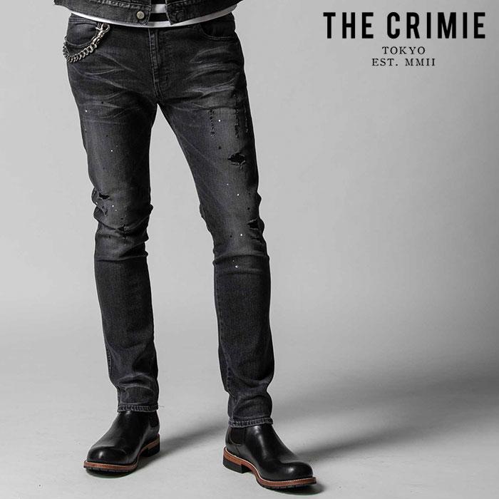 CRIMIE 賜物 クライミー crimie 上品 正規取扱店 通販 BORN FREE STRETCH BLACK GARAGE USED キャンセル不可 デニムパンツ