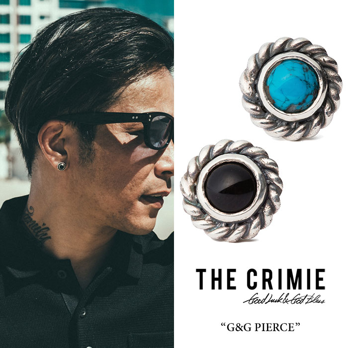 CRIMIE(クライミー)G & G TURQUOISE PIERCE【2018 SUMMER先行予約】【送料無料】【キャンセル不可】【C1H3-CXAG-GP03】【CRIMIE ピアス】