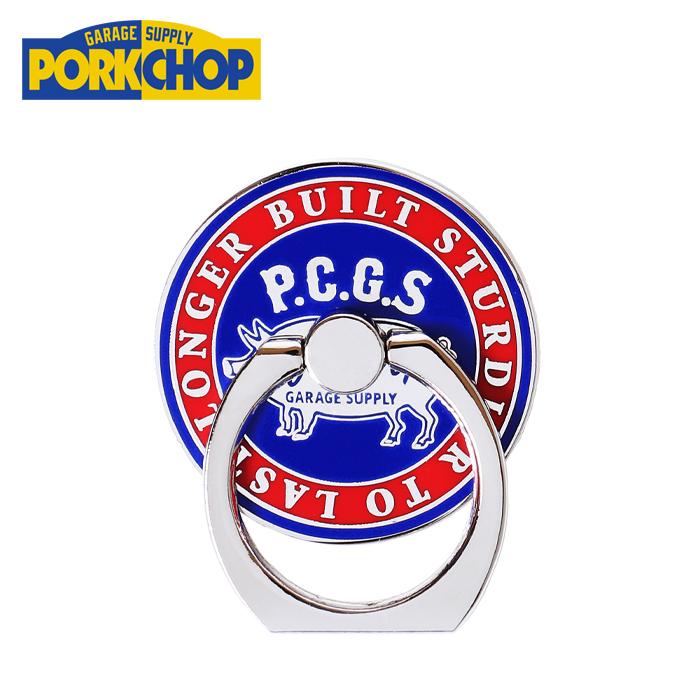 【PORKCHOP GARAGE SUPPLY】【ポークチョップ ガレージサプライ】 PORKCHOP GARAGE SUPPLY(ポークチョップ ガレージサプライ)P RING(CIRCLE)【スマートフォン用ホールドリング】【バンカーリング】