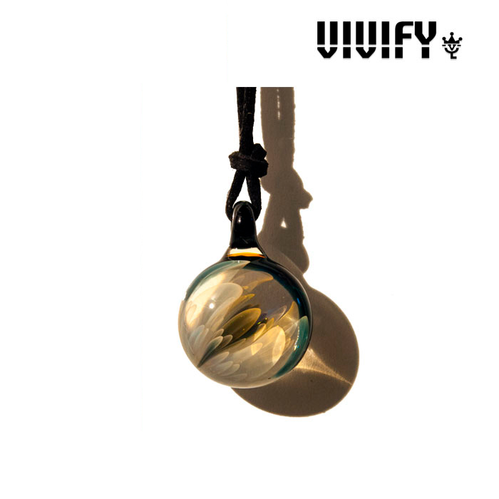VIVIFY(ヴィヴィファイ)Topnoch Leather Necklace(L)【キャンセル不可】【VIVIFY(ヴィヴィファイ)ネックレス】【ガラス工芸】