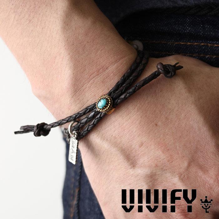 VIVIFY(ヴィヴィファイ)A MAN of ULTRA Old Native Style Stone Setting Round Braid Bracelet【予約商品】【キャンセル不可】【職人の完全手作業による逸品】【VIVIFY ブレスレット】【VMU-006】