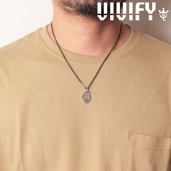 VIVIFY(ヴィヴィファイ)(ビビファイ)Texture TeardropPlate PendantHead/k18gold Logo【オーダーメイド 受注生産】【キャンセル不可】【VIVIFY ペンダントヘッド】【VFN-275】
